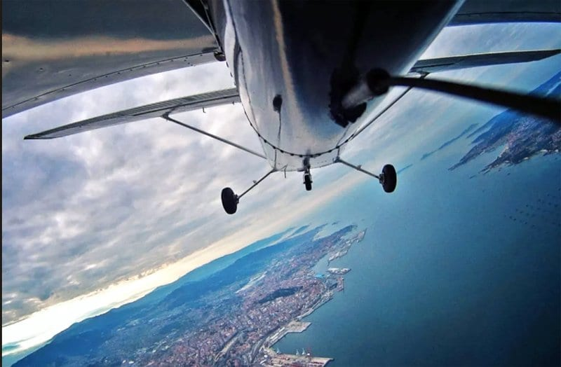 Avioneta islas Cies Vigo Galicia