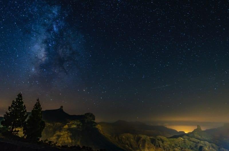 Cielo con estrellas en Gran Canaria