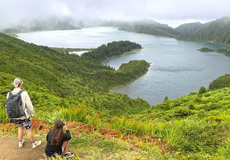 La laguna de Fuego en San Miguel de Azores