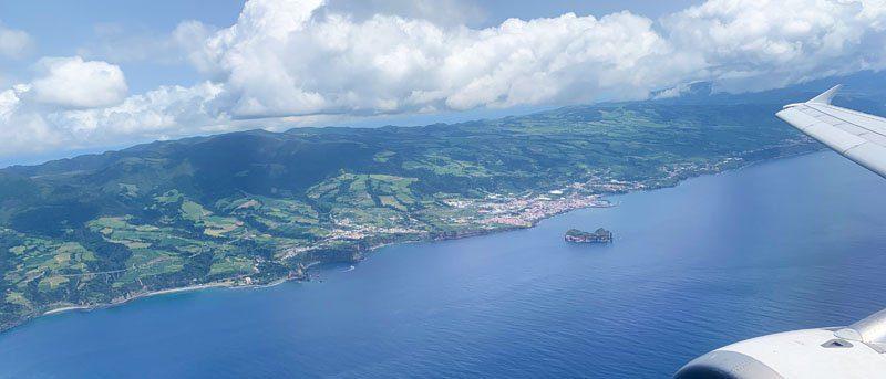 Vista aérea de San Miguel de Azores