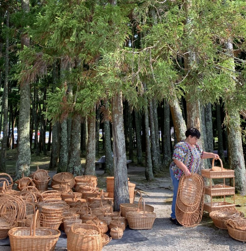 Cestas de picnic en Furnas, San Miguel de Azores