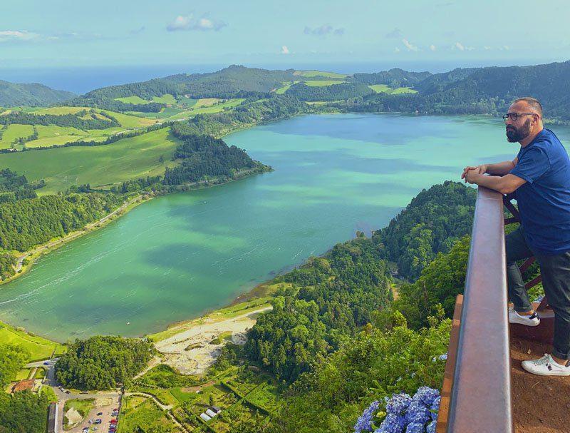 Lagoa das Furnas desde el mirador del Pico do Ferro en San Miguel de Azores