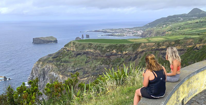 Mirador de Punta Ferraria, en Sete Cidades, en San Miguel de Azores