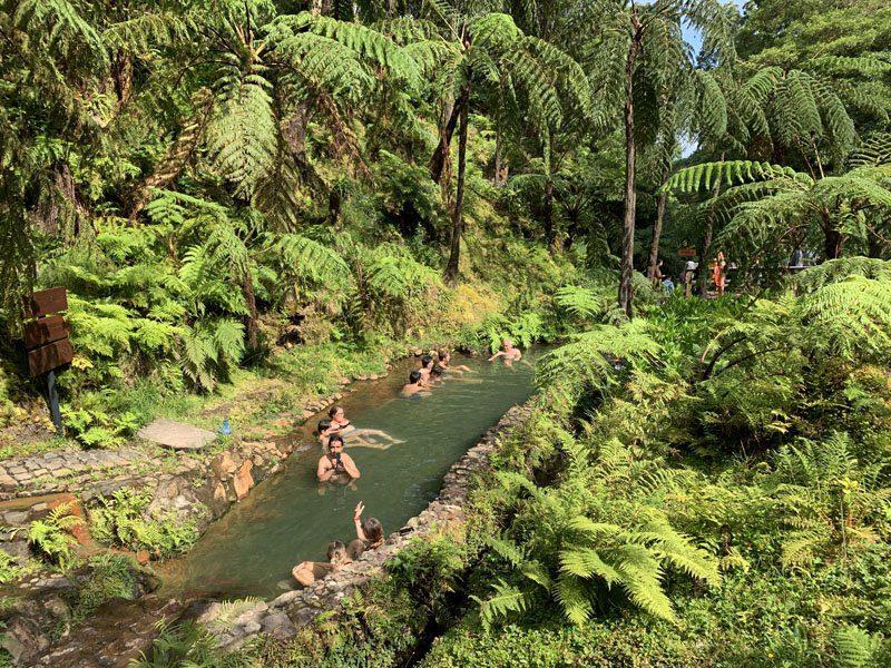Piscina natural de Caldeira Velha eb San Miguel de Azores